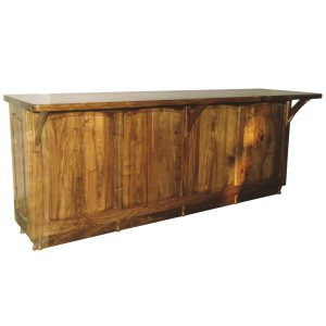 Bar counter with overhanging top in Kiaat