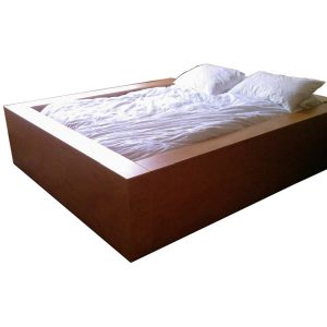 Double bed size pit bed in Cherry wood veneer