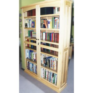 Book case with two glass doors in American Ash