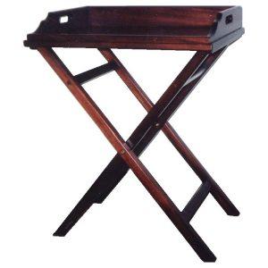 Rectangular butler's tray in African Mahogany