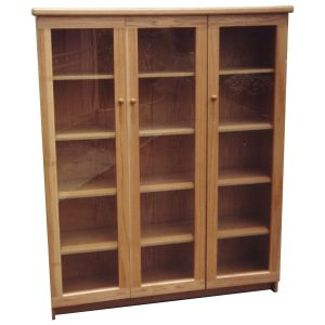 Three door file cabinet for office in White Oak