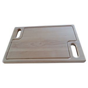 Rectangular cutting board with two handles in Beech