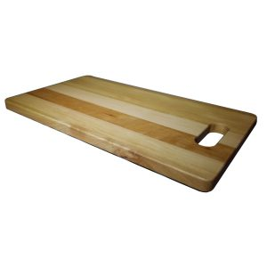 Rectangular cutting board with handle in European Beech