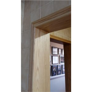 Red Oak door linings to conseal old door frames