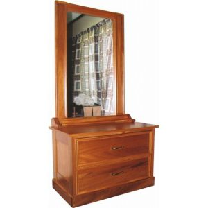 Narrow dressing table with tall mirror in Chamfutta