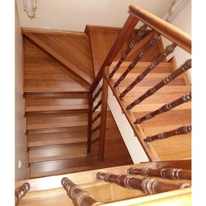Stairway and passage flooring in bamboo