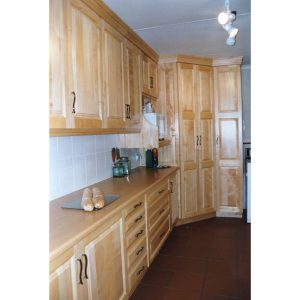 Kitchen cabinets in Jacaranda wood