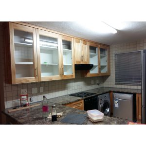 Kitchen refurbishment with Saligna fronts new work tops and cabinet fittings