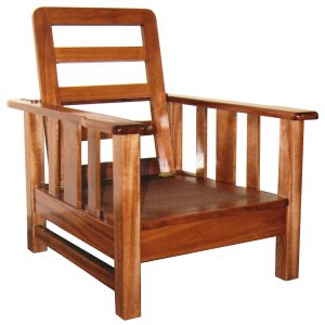 Morris chair in African Mahogany