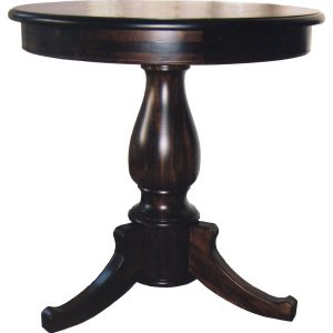 900mmØ Occasional table with pedestal leg in African Mahogany