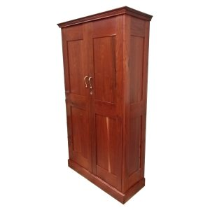 Cabinet with shelves and two doors in Rhodesian Teak
