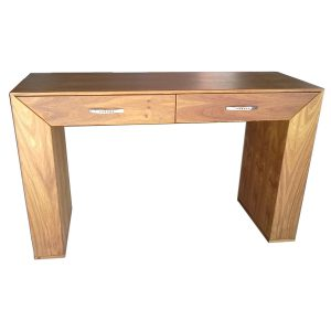 Modern server with two drawers in Kiaat veneer