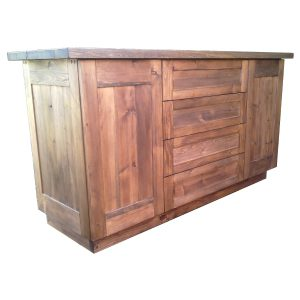 Side board with doors and drawers in distressed Spruce