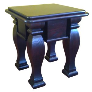 550mm Square side table with shaped square legs in stained Pine