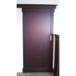 Sliding door in Mahogany finish