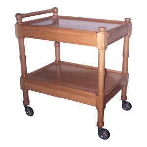 Two-tier tea trolley in Knysna Yellow wood