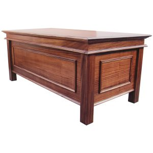 Colonial style writing desk in African Mahogany